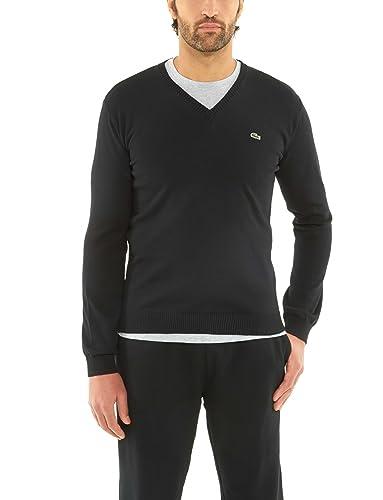 fe0de9a29dcc Amazon.com  Lacoste Men Cotton V-Neck Sweater Pullover (XL EUR7 ...