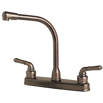 Builders Shoppe 1200BZ RV Mobile Home Non-Metallic High Rise Swivel Kitchen Sink Faucet Brushed Bronze Finish: Automotive