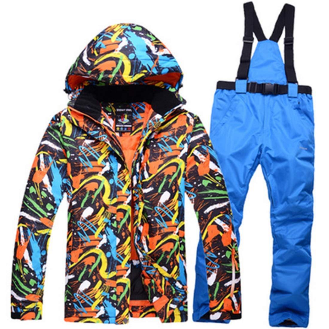FELICIG Herren Skianzug Winter Skijacke und Hosen Set (Color : 01, Size : M)