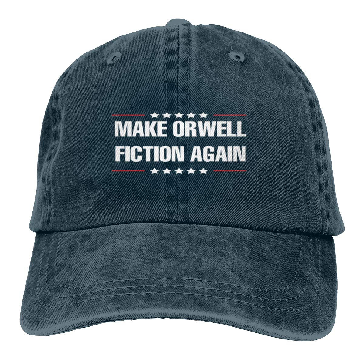 Make Orwell Fiction Again Washed Denim Hat Adjustable Unisex Dad Baseball Caps
