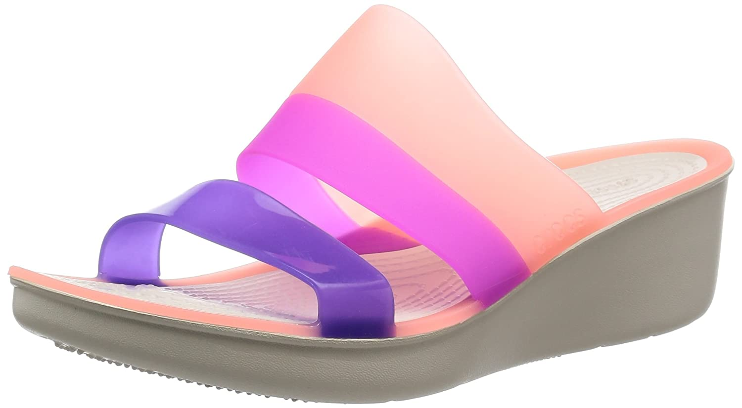 cfd79a68738430 crocs Women's Melon/Stucco Fashion Sandals-W8 (200031-6KM): Buy Online at  Low Prices in India - Amazon.in
