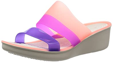 e1bea890a6e crocs Women s Melon Stucco Fashion Sandals-W8 (200031-6KM)  Buy ...