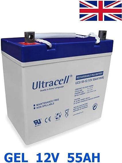 PLOMB GEL Batterie 12 V 100ah 20hr Onduleur Piles 110ah 100hr zyklenfest MF 2 morceaux