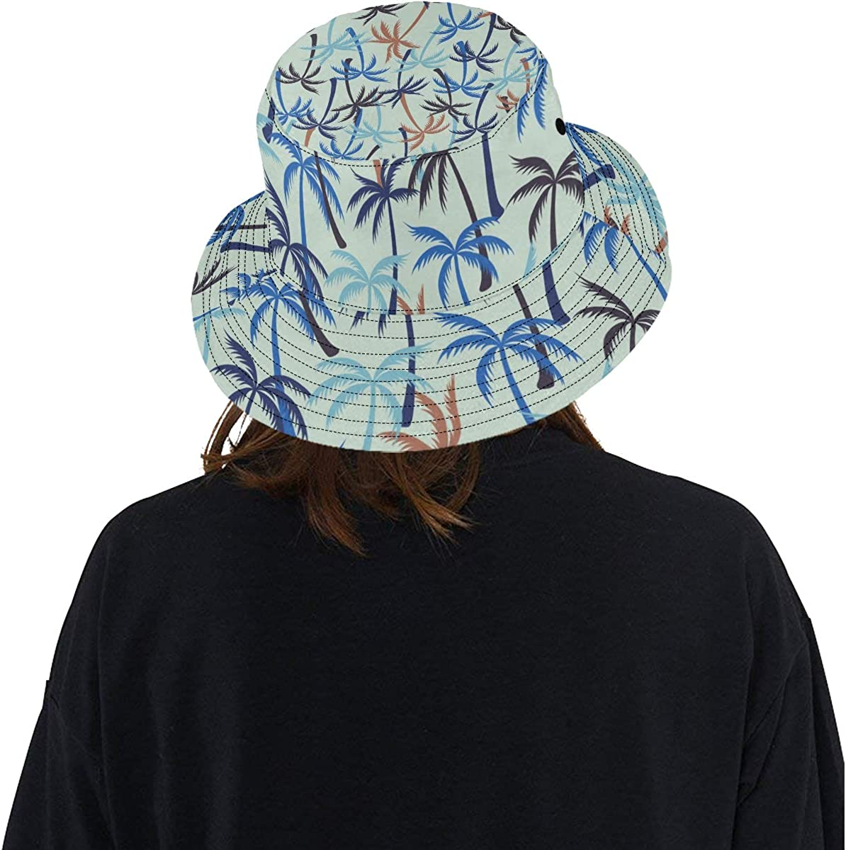 Green Tree High Plant All Season Summer Unisex Fishing Sun Top Bucket Hats for Kid Teens Women and Men with Packable Fisherman Cap for Outdoor Baseball Sport Picnic