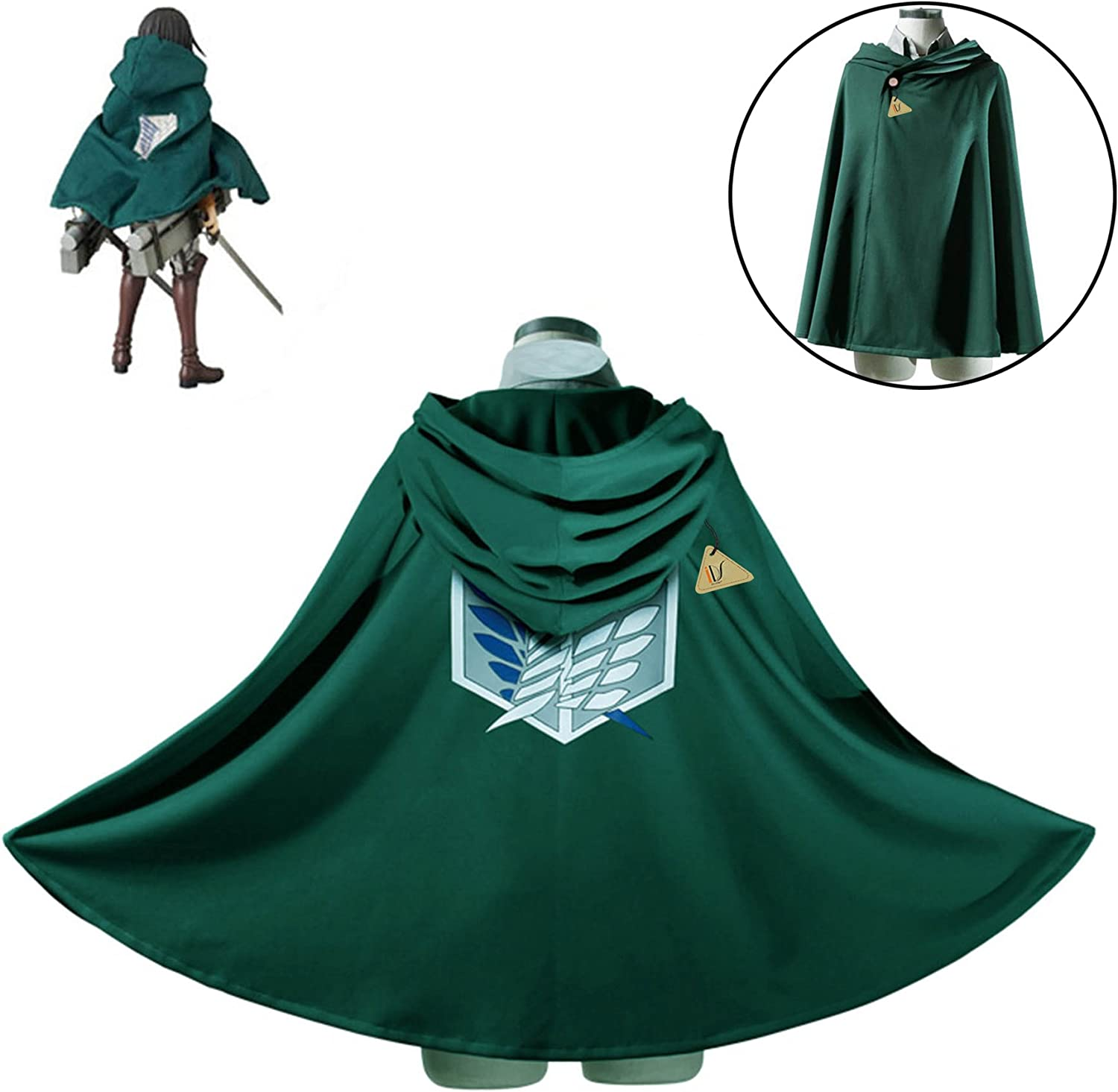 IDS Home Halloween Fashion Cloak Cape Hooded Jacket Cosplay Costume Clothes
