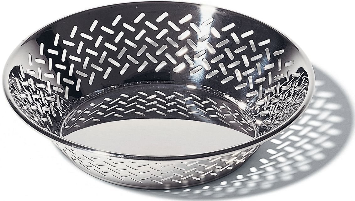 Alessi 5021/25 Bowl Round Perforated Stainless Steel