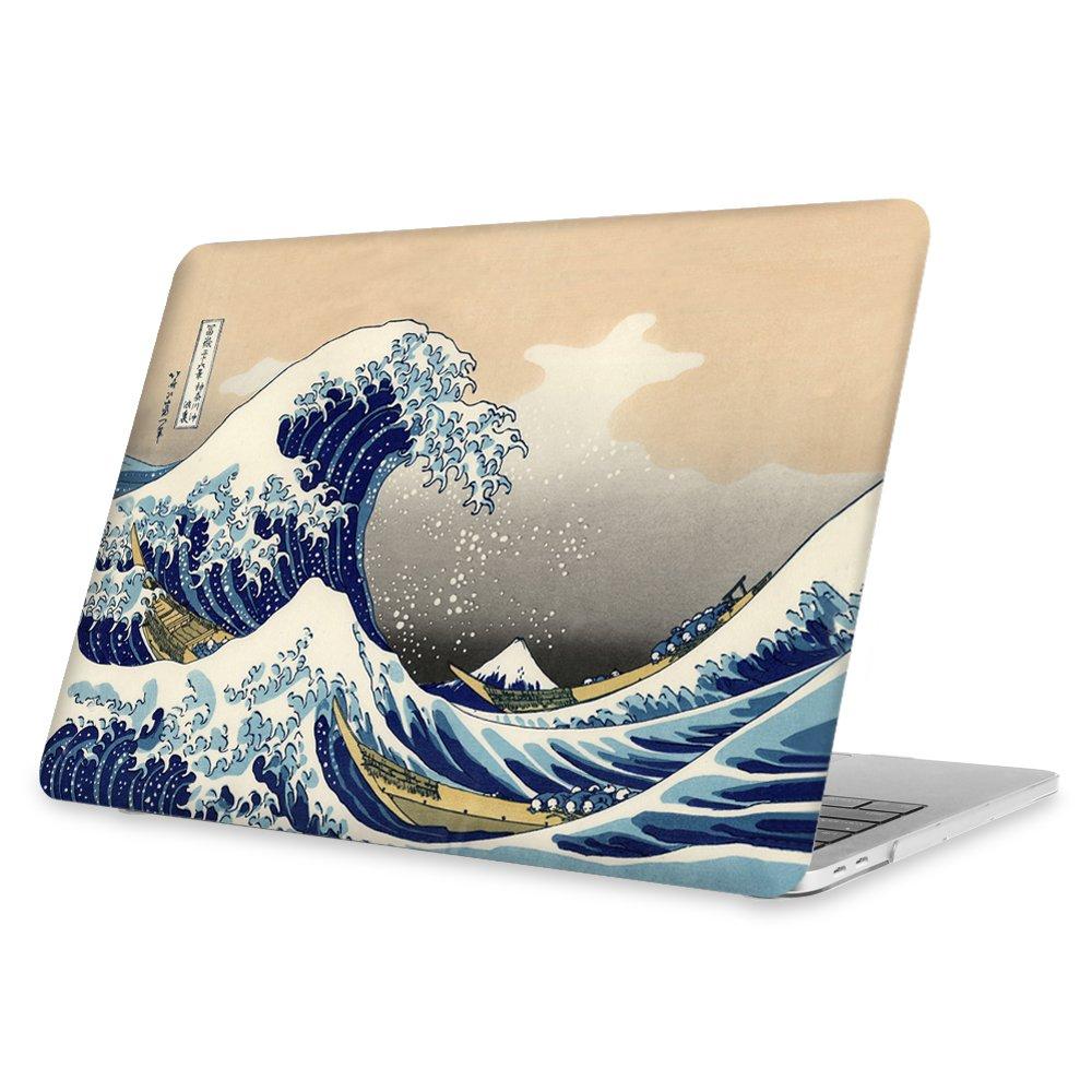2019//2018//2017//2016 FINTIE Funda para MacBook Pro 13 - S/úper Delgada Carcasa Protectora de Pl/ástico Duro para Modelo A1989 // A1706 // A1708 con o Sin Touch Bar y Touch ID Transparente Flor