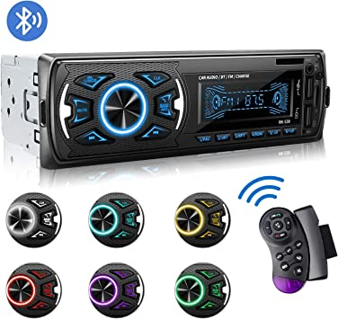 7 Couleurs Poste Radio St/ér/éo FM Radio USB//SD//AUX//EQ//Lecteur MP3 Autoradio 4x52W 1 Din Radio de Voiture Autoradio Bluetooth