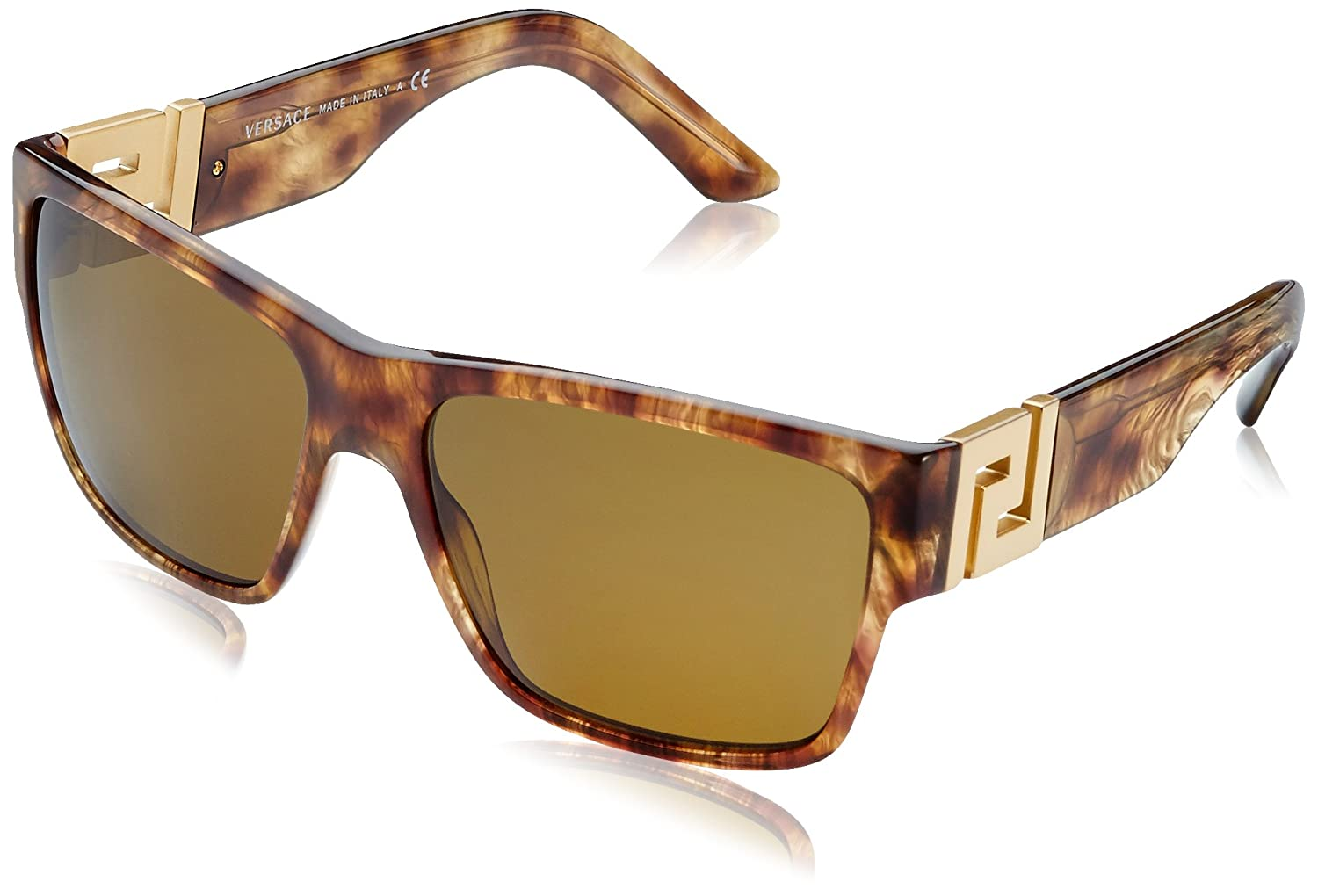 3ec9c0ee417 Amazon.com  Versace Women s VE4296 Striped Havana Brown  Clothing