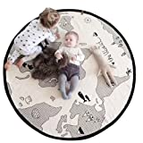 Amazon Price History for:Lzttyee Beige Adventure World Map Pattern Baby Crawling Mats Game Blanket Floor Playmats Round Carpet Children's Room Decoration