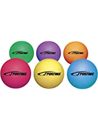 Sportime Playground Rubber Balls, Assorted Colors, Set of 6