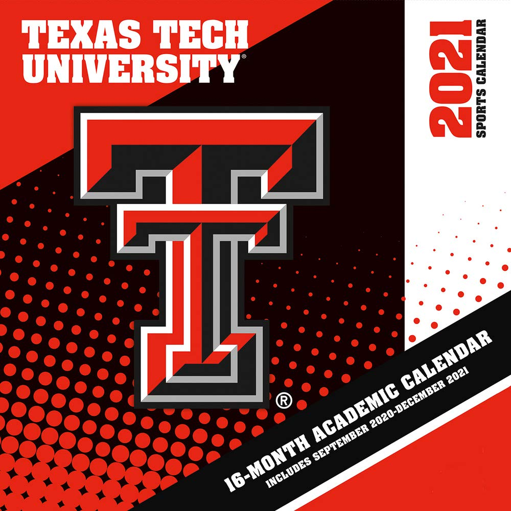 Texas Tech 2021 Calendar Texas Tech Red Raiders 2021 12x12 Team Wall Calendar