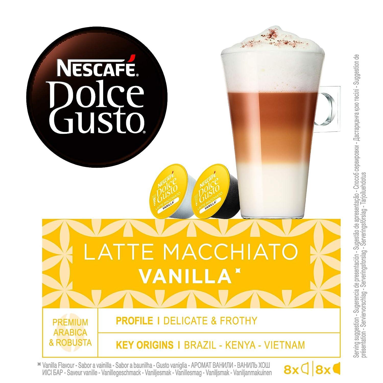 NESCAFÉ Dolce Gusto Café Latte Macchiato Vainilla, Pack de 3 x 16 Cápsulas - Total: 48 Cápsulas de Café: Amazon.es: Alimentación y bebidas