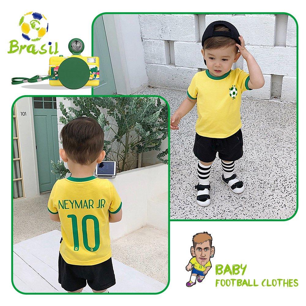 Amazon.com  Toddler Soccer T-Shirt World Cup 2018 Neymar Jr Brazil Jersey  for Baby Kids  Clothing 354090874