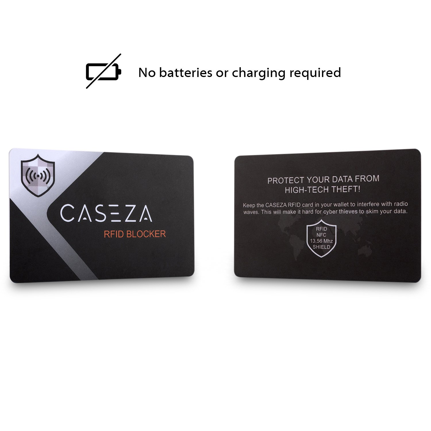 7b00ae5a5788 RFID Blocking Card - CASEZA RFID NFC Card Protector - Signal Blocking  Protection for Your Credit Cards, ID & more - Replaces Blocking  Sleeves/Bags - ...