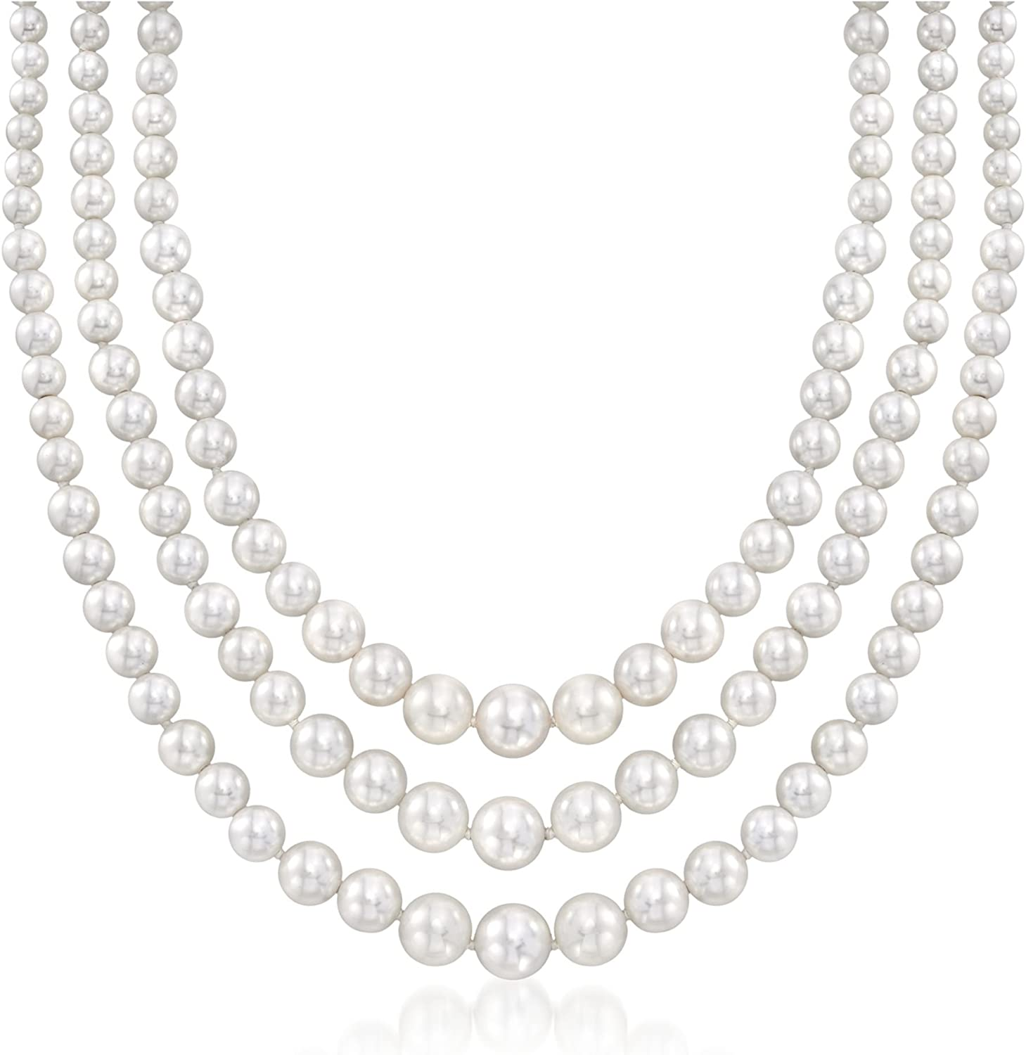 Silver Traditional Necklace for your Valentine!! Pearl