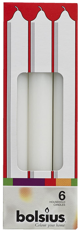 Bolsius househ. C. 165/18,6BX6weiß weiß
