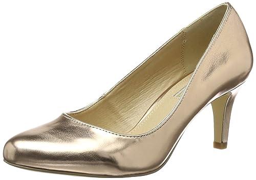 TG.36 Buffalo Shoes C404a1 P2232f Pu Scarpe Col Tacco con Cinturino a T Donn