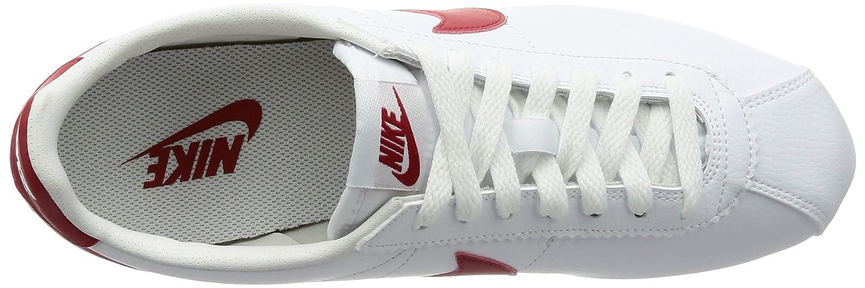 nike hommes est classique cortez / cuir blanc / cortez varsity Rouge , 13 m 427ed7