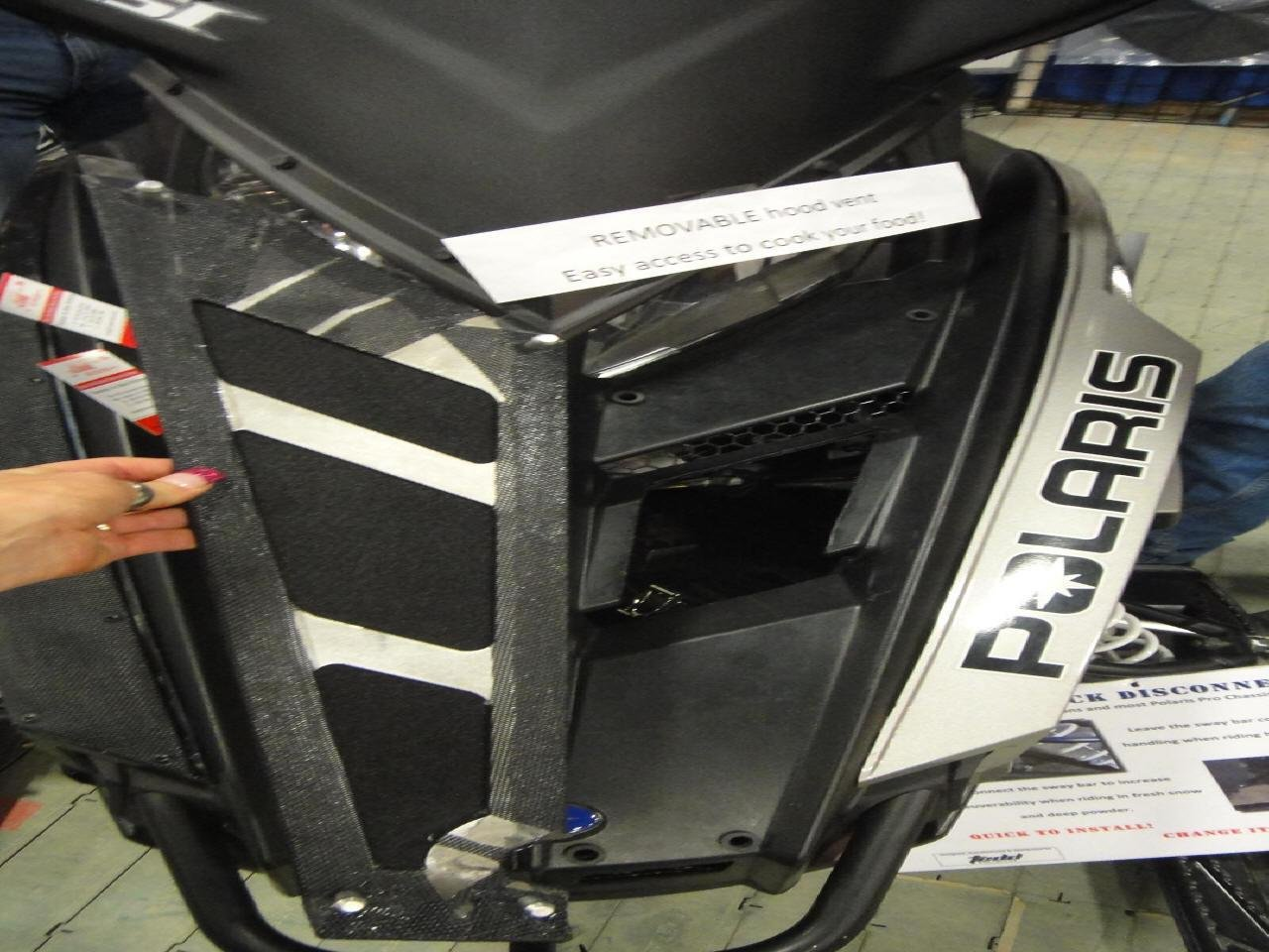 2 Cool Airvents Polaris Pro Ride Removable Hood Vent PO-128 by Unknown (Image #1)
