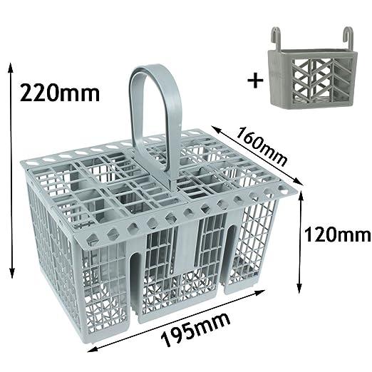 SPARES2GO Cubiertos cesta cage, asa y tapa + Soporte para Tablet para Whirlpool Lavavajillas