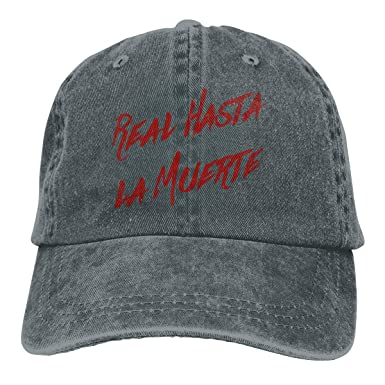 FANMEN Real hasta La Muerte Camisa Anuel AA Trap Denim Dad Cap ...