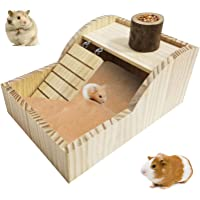 kathson Hamster Sand Bath Box Wooden Small Animals Shower Room Chinchilla Digging Sand Bathtub Container with Climbing…