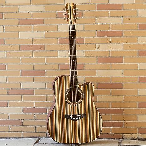 Guitarra acústica de 41 pulgadas, diapasón acústico de madera de ...