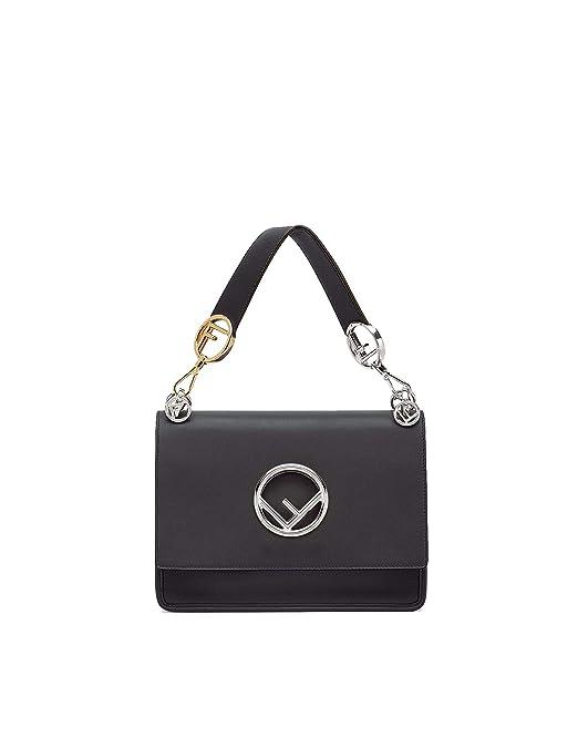 30e0f1035c5e Fendi Women s 8Bt2842ihf0gxn Black Leather Shoulder Bag  Amazon.co.uk   Clothing