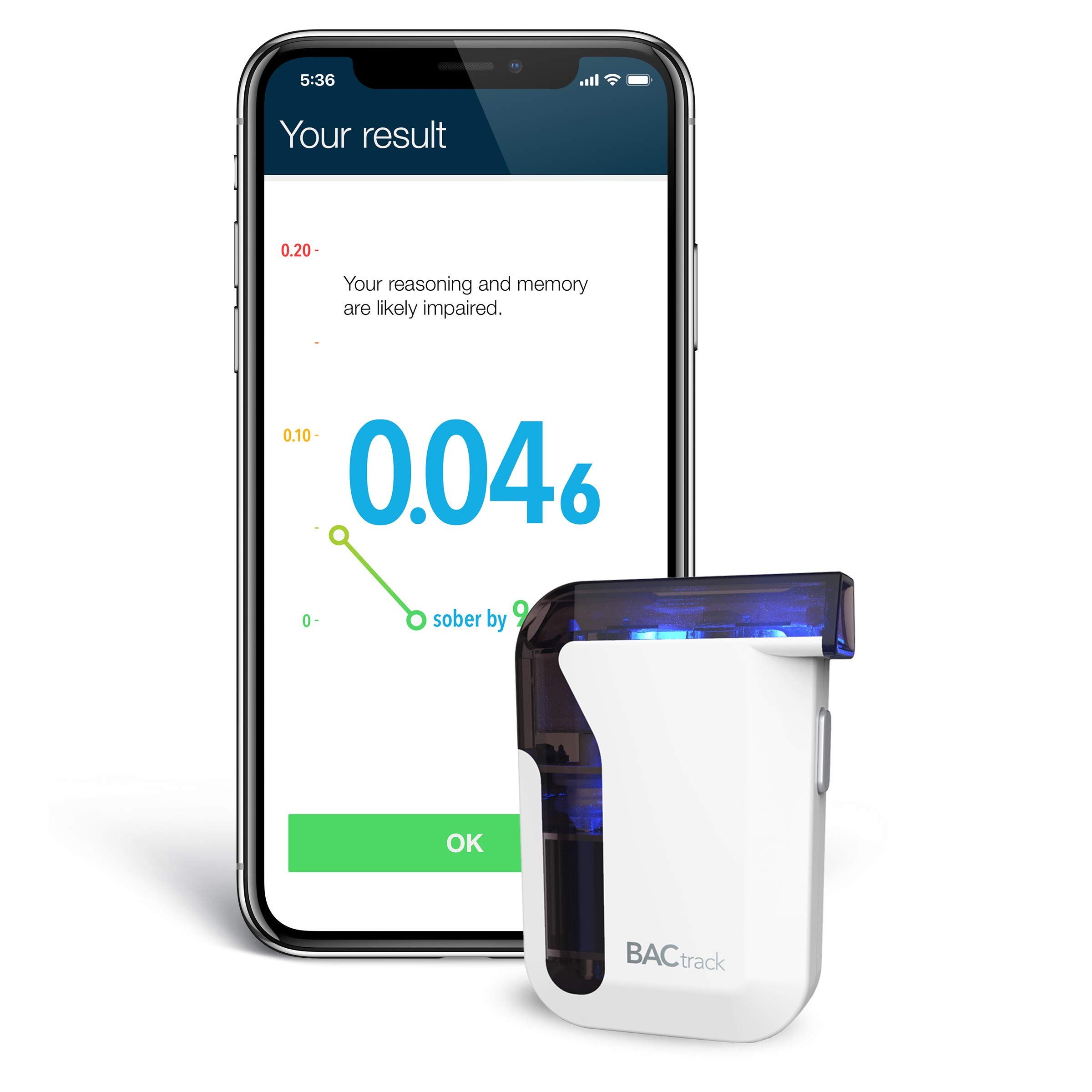 BACtrack Mobile Smartphone Breathalyzer | Professional-Grade Accuracy | Bluetooth Connectivity to Apple iPhone, Google & Samsung Android Devices