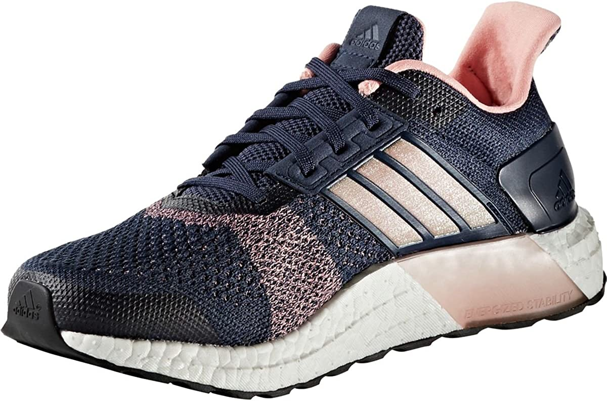 Adidas Ultra Boost ST Running Shoe – Womens Midnight Grey Still Breeze, 10.5