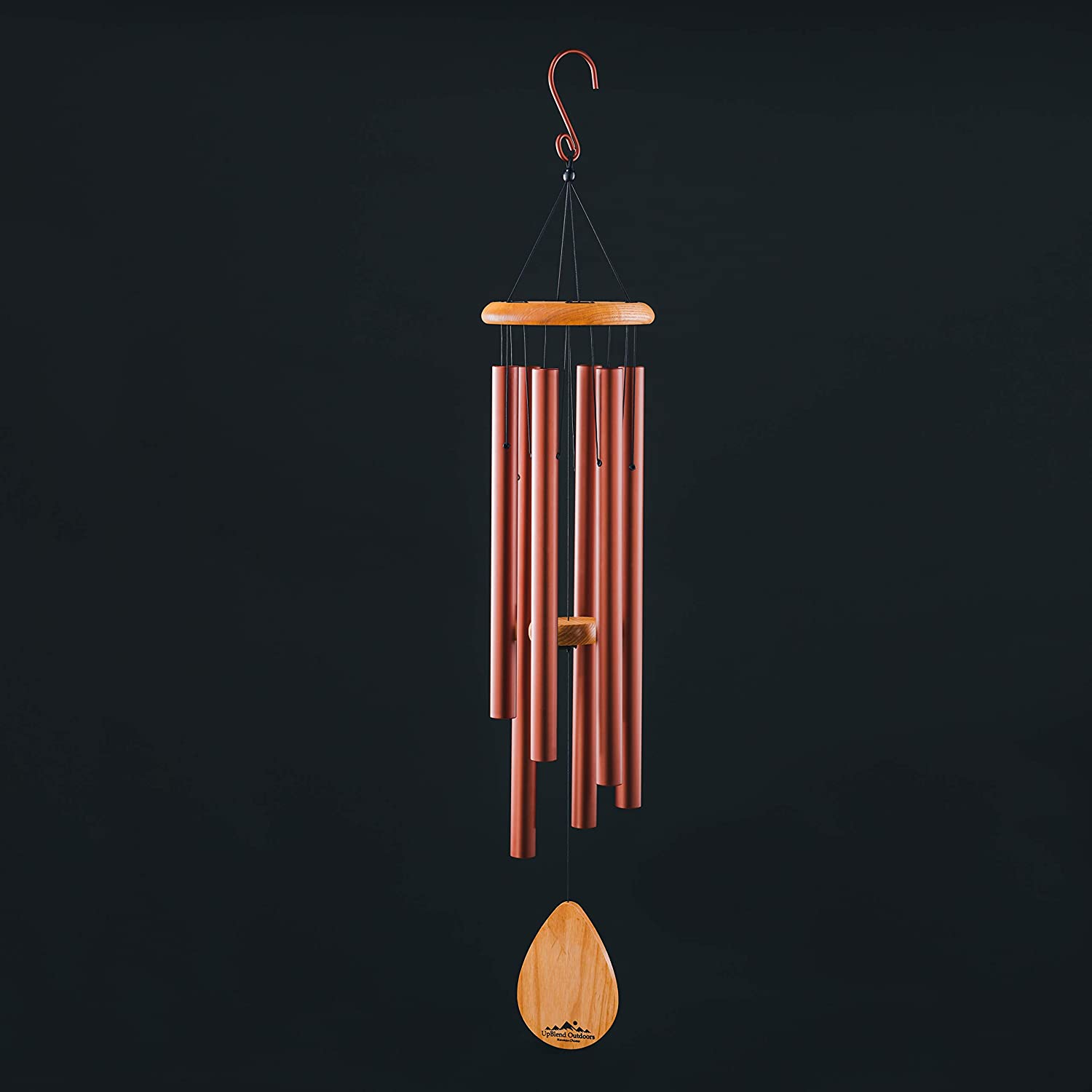 """UpBlend Outdoors Large Wind Chime - The Classic Brown Havasu is 38"""" Total Length - Hand-Tuned and Beautiful as a Gift or for Your Patio, Garden, and Outdoor Home décor"""