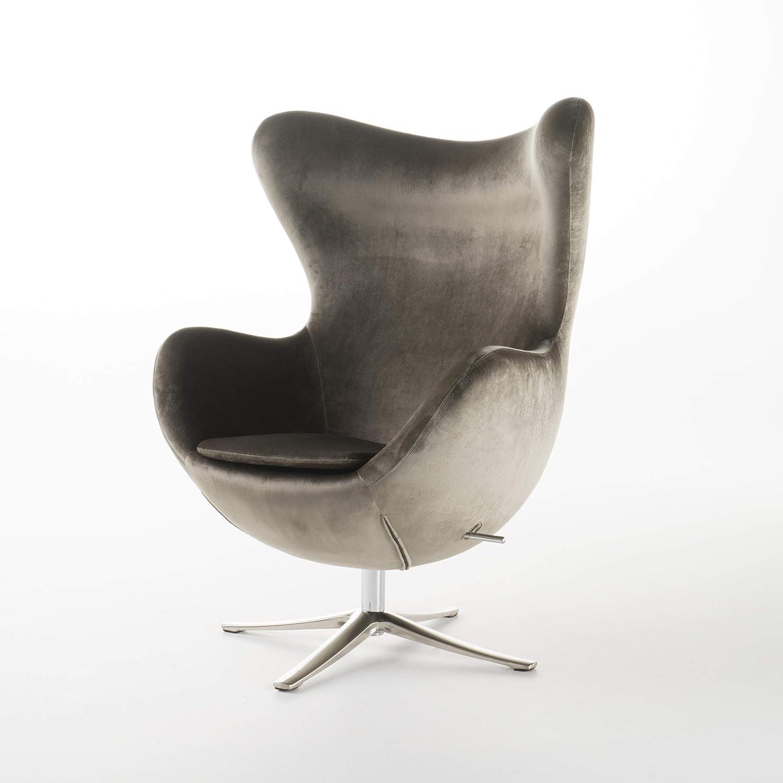 Christopher Knight Home Gadot Grey New Velvet Modern Swivel Chair