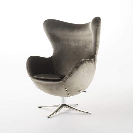 Amazon.com: Gadot Grey New Velvet Modern Swivel Chair: Kitchen & Dining
