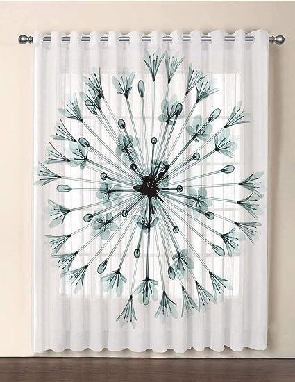 Amazon.com: iPrint One Panel Extra Wide Sheer Voile Patio Door ... on