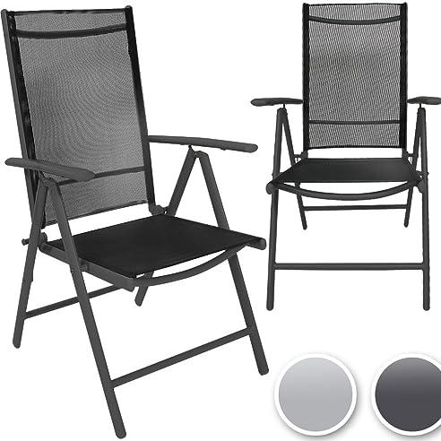 Miadomodo Gartenstuhl Set Alustühle Klappstühle Mehrfach Neigbare  Rückenlehne Aus Aluminium Mit Modell , Farb