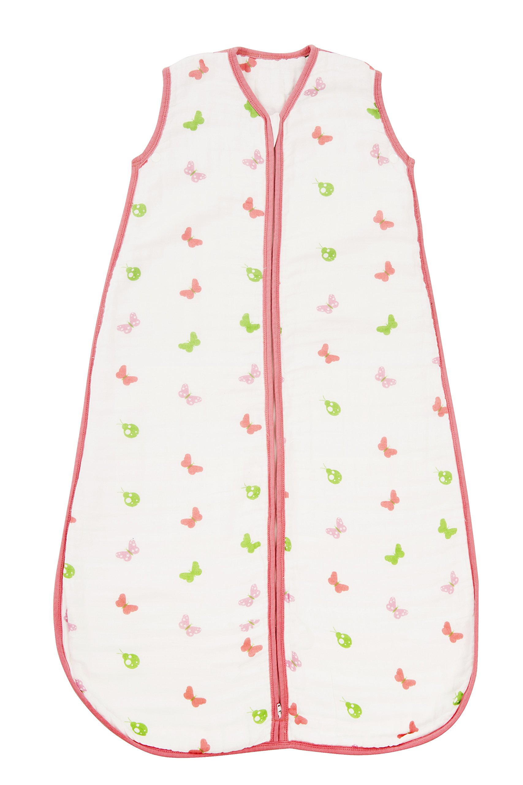 0 to 6 Months Pink Sky. Baby Sleeping Bag 100/% Cotton Softness and Freshness in one Single Fabric Layer 0.5 TOG molis /& co Ideal for Summer