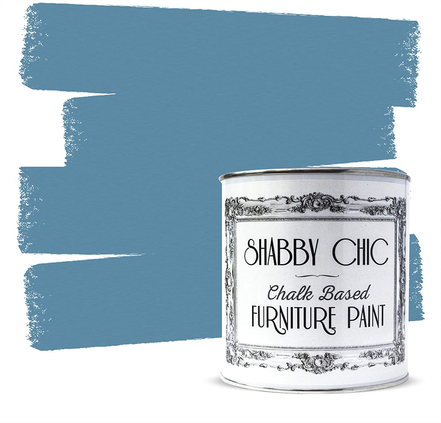 Shabby Chic Furniture Chalk Paint: Chalk Based Furniture and Craft Paint for Home Decor, DIY Projects, Wood Furniture - Chalked Interior Paints with Rustic Matte Finish - 250ml - Cottage Blue