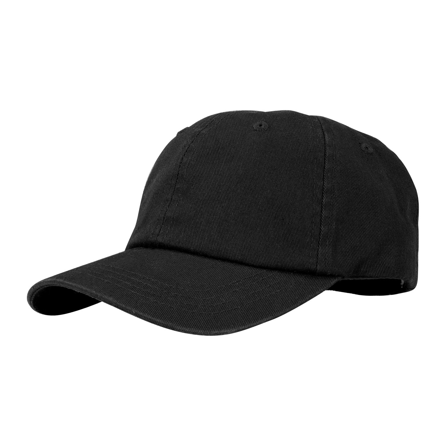 c31931bdd44 PT FASHIONS 100% Cotton Dad Hat Unisex Washed Twill Cotton Baseball Cap Low  Profile Polo Style Unconstructed-01black at Amazon Men s Clothing store
