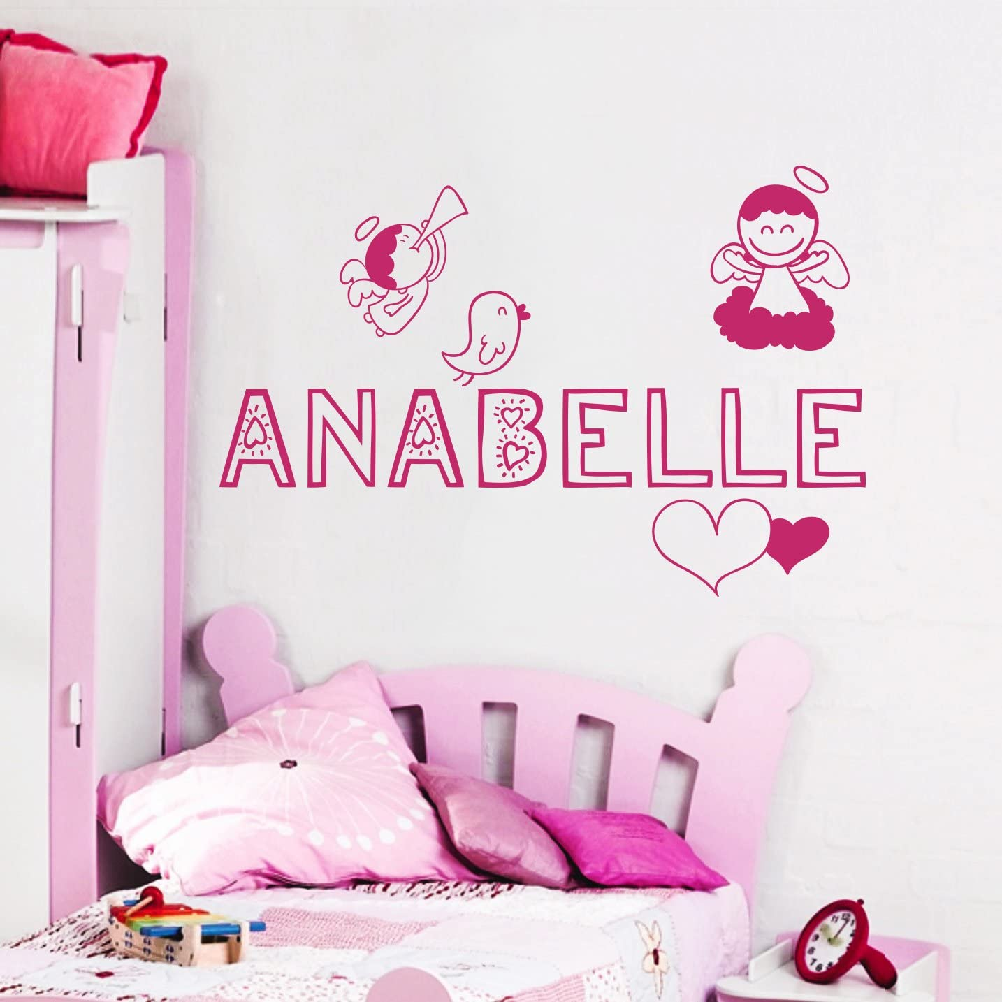 Personalized Name Angel Wings Wall Decal Angel Wall Decor Etsy In 2020 Angel Wall Decor Unicorn Wall Decal Nursery Wall Decals