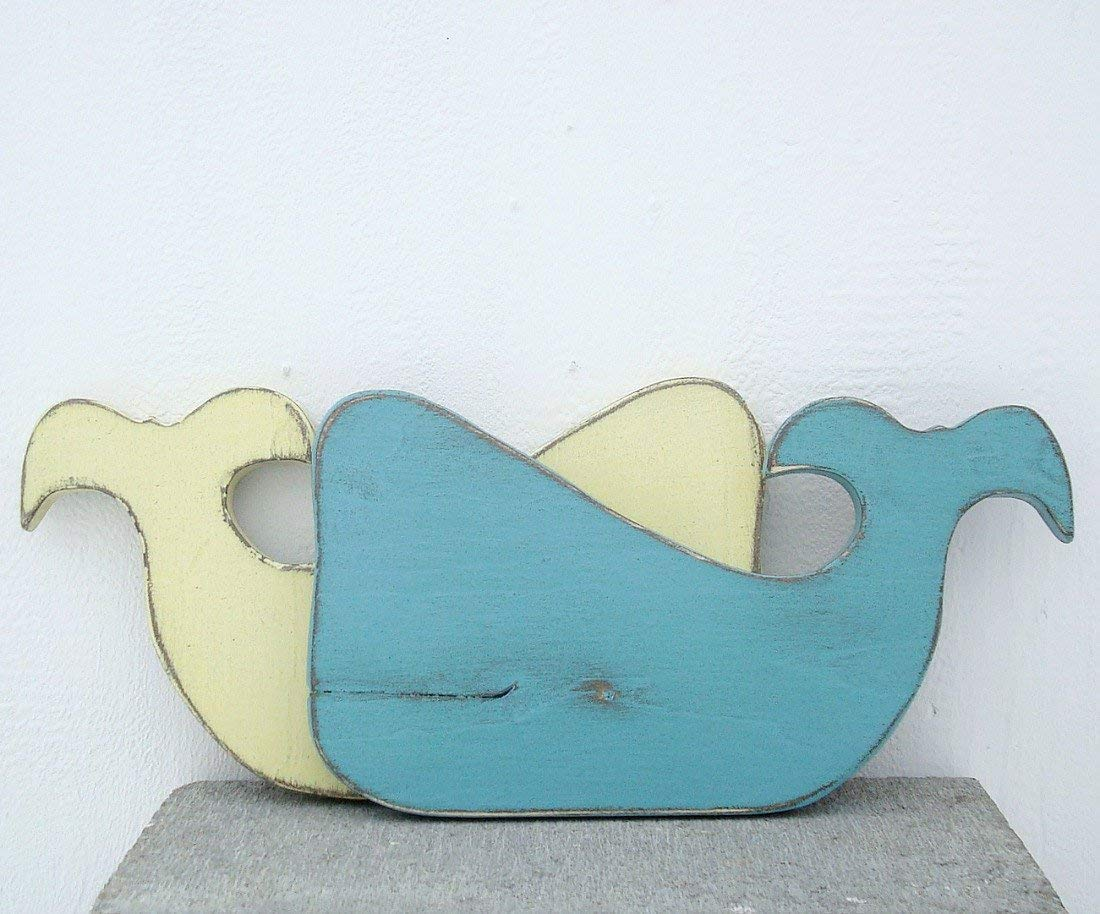 cute wood whale thick wood used