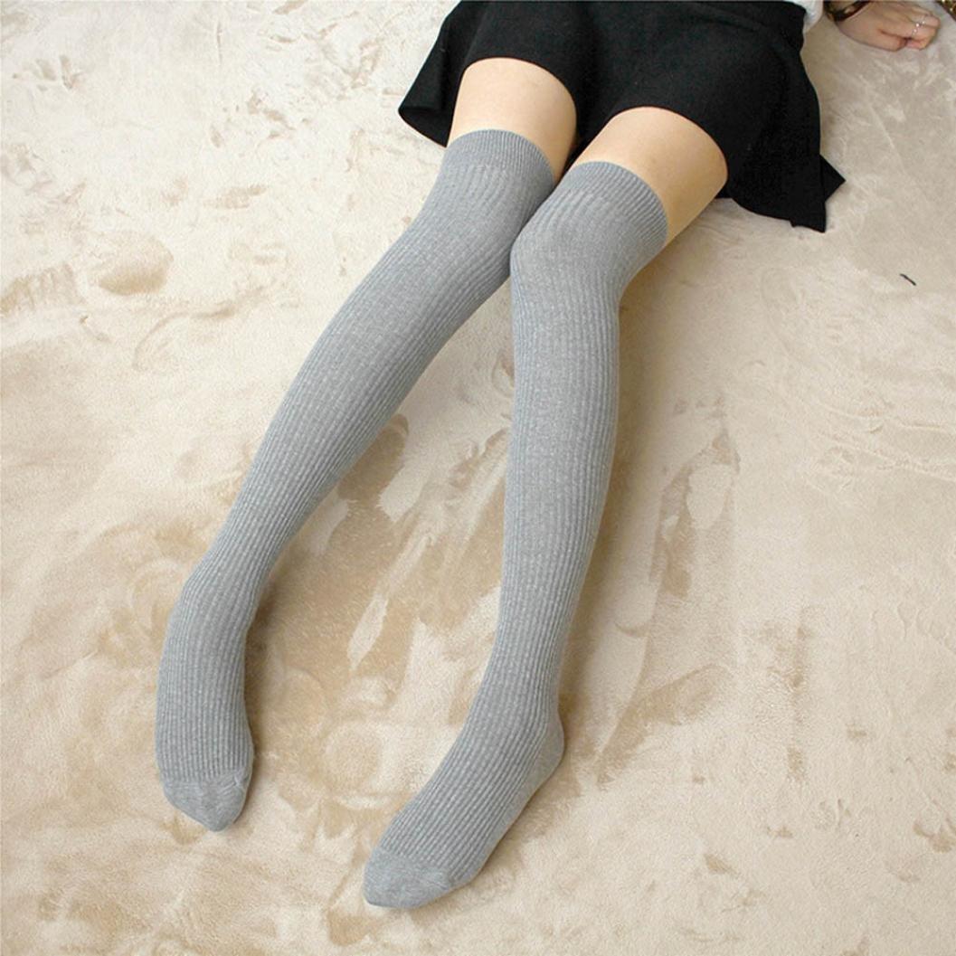 Women Leggings,Sunfei Ladies Over the Knee Bowknot Thigh High Womens Stretch Girls Cotton Socks