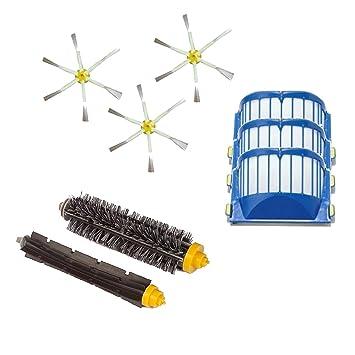 Kit de cepillos y filtros AeroVac para iRobot Roomba serie 600, 601, 602,