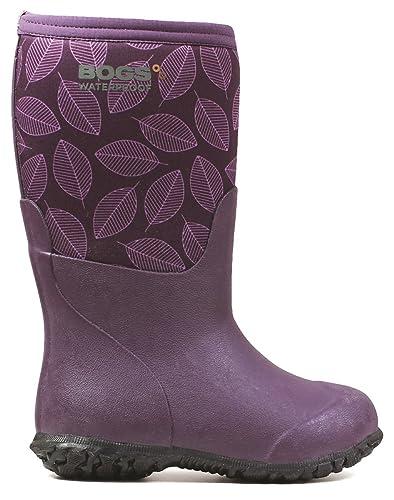35307f932be3 Bogs Range Leafy Boot Purple Multi Size 4 M US Big Kid