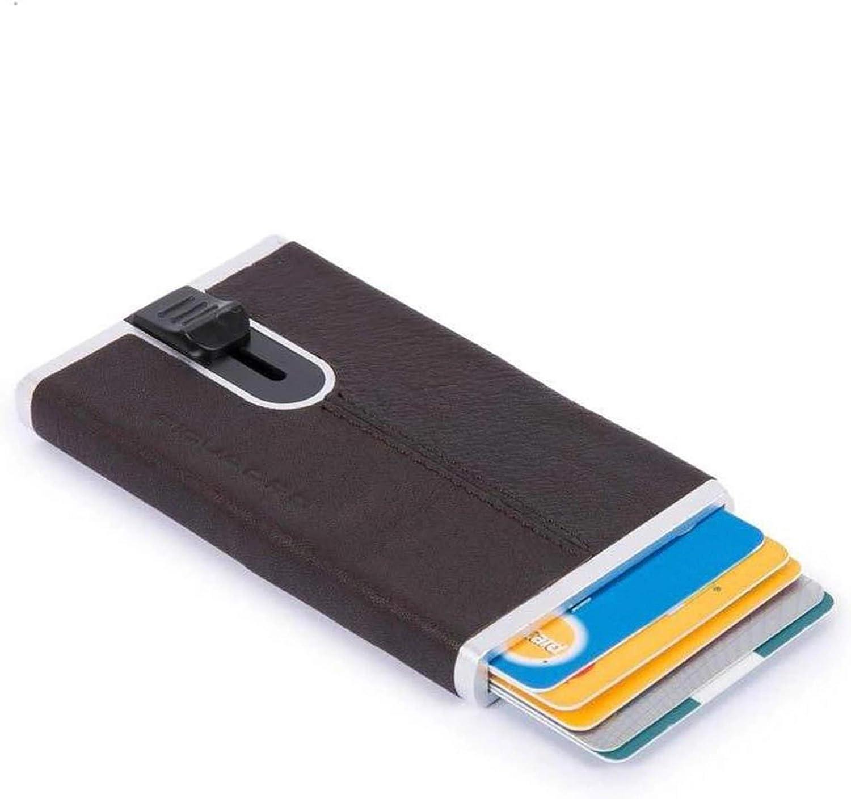 Piquadro Porta Carte Credito Piatto Black Square PP4825B3R-blu