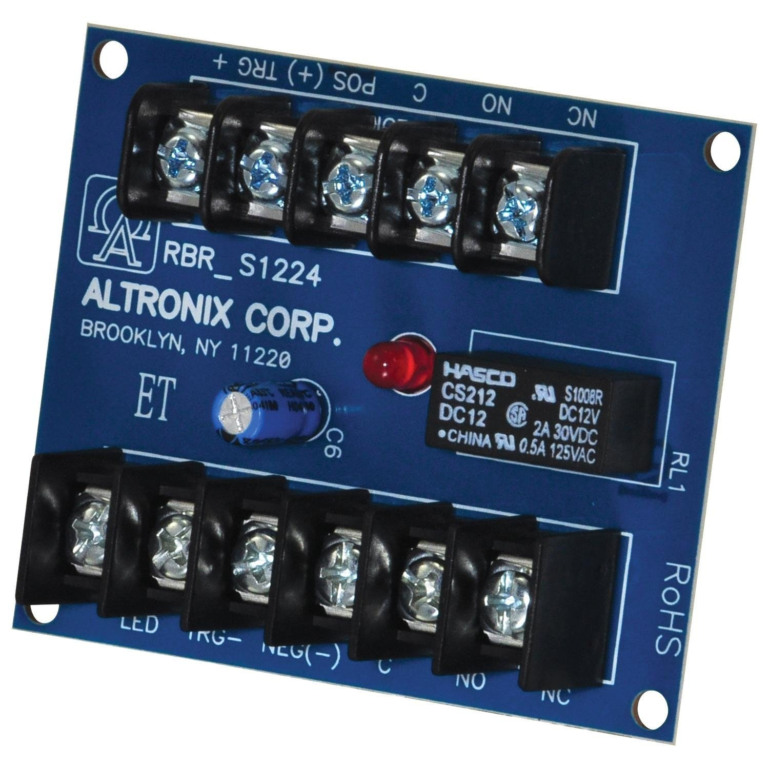 ALTRONIX RBR1224 ELECTRONIC TOGGLE/RATCHET RELAY,12VDC to 24VDC (2 Pack) by Altronix