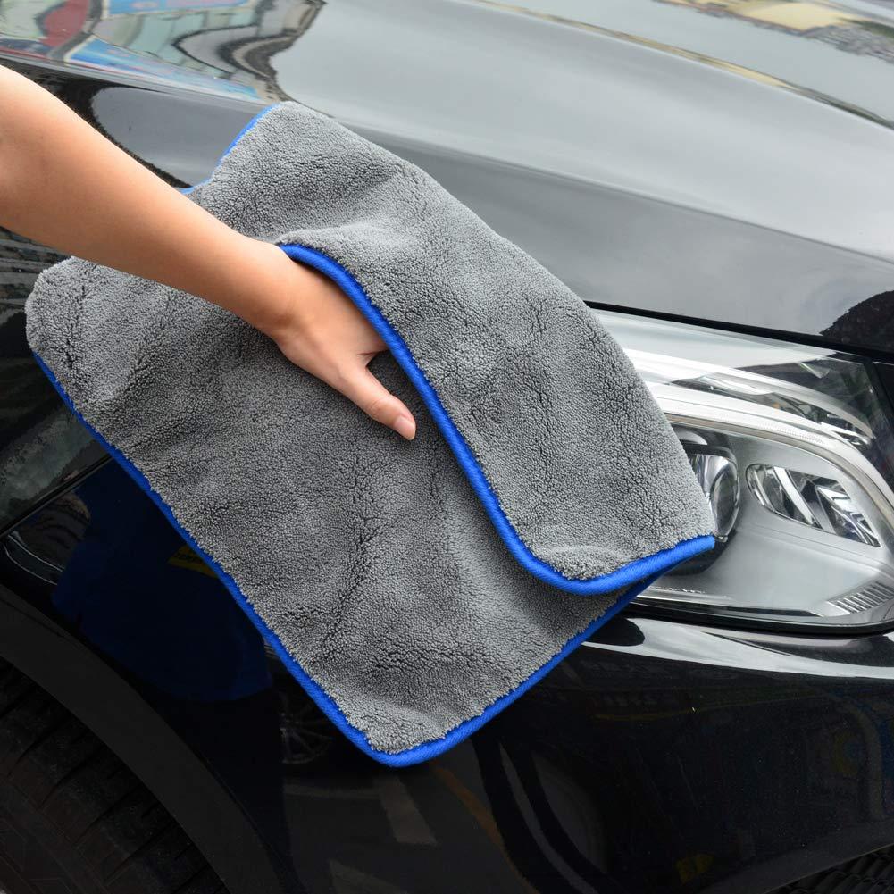 1200GSM Auto T/ücher ultraweich f/ür Perfekte Auto Lackpflege YIKANWEN Mikrofasert/ücher zur professionellen Autopflege Poliertuch Trockentuch 3er Set 42x42cm
