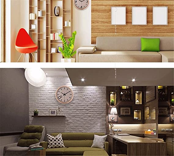 Amazon.com: Imoerjia Great Wall Clock Living Room Round Mute Quartz Clock Abs Plastic Material 14 in C: Home & Kitchen