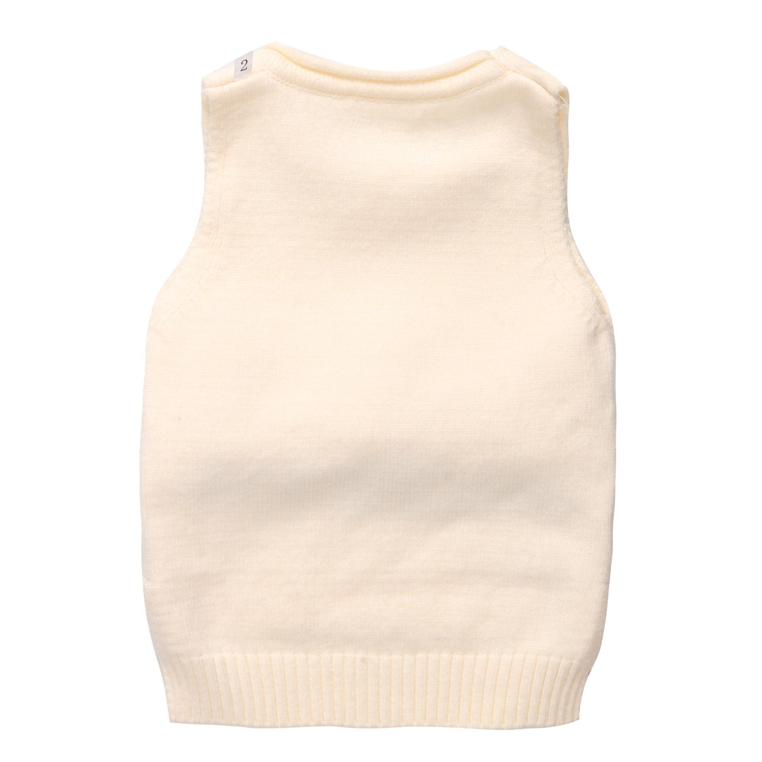 Coodebear Little Baby Girls Cashmere Caps Round Collar Sweater Vests