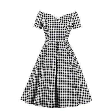 VERNASSA Vestido Vintage de algodón para Mujer,Falda Sexy de los ...